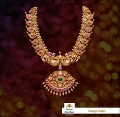 Jewelry Set South Indian Bridal Jewellery Sets - Antique South Indian Mango Necklace Set - South Indian Bridal Jewellery Sets are an integral part of every Southern bride's attire. Here's the list of 10 best South Indian bridal jewellery sets. South Indian Bridal Jewellery, Indian Jewelry Sets, Indian Jewellery Design, Jewelry Design, India Jewelry, Antique Jewellery, Antique Necklace, Traditional Indian Jewellery, Western Jewelry