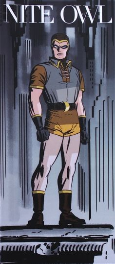 Nite Owl by Darwyn Cooke Comic Book Artists, Comic Artist, Comic Books Art, Superman, Batman, Dc Comics, Manhattan, X Men Evolution, Arte Nerd