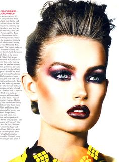 Charlotte Tilbury for Grazia Magazine very over the top, but she is beautiful and can pull this off.