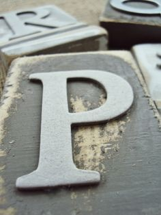 Distressed Alphabet Blocks