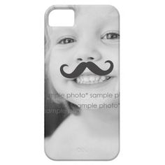 Make Your Own Funny Mustache Photo iPhone 5 Case