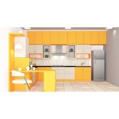 Marigold L - Shape Kitchen with Laminate Finish by Scaleinch