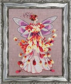 Faerie Spring Fling Pixie Season Collection Cross Stitch Pattern (NC201) Embroidery Patterns by Nora Corbett
