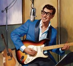Portait of Buddy Rock And Roll, Rock N Roll Music, Buddy Holly Musical, Easy Guitar Chords, Ritchie Valens, Smokey Joe, Song Reviews, American Bandstand, Elvis Presley Photos