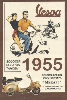 Scooter Vespa Advertisement 1955 #Vespa #Indonesia