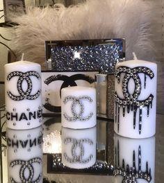 Chanel Room, Chanel Decor, Personalized Candles, Custom Candles, Chanel Baby Shower, Diy Room Decor, Bedroom Decor, Lash Room, Cricut Creations