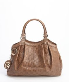 Gucci brown guccissima leather 'Sukey' shoulder bag