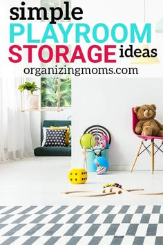 Incredible playroom storage ideas that are realistic, easy, and so SMART! You'll want to start using these simple playroom organization ideas right away, and finally tackle toy clutter once and for all. Playroom Organization, Organization Ideas, Storage Ideas, Playroom Ideas, Organizing Your Home, Organizing Toys, Multiplication For Kids, Lego Storage, Organized Mom