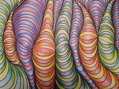 Line Designs with Shading | TeachKidsArt