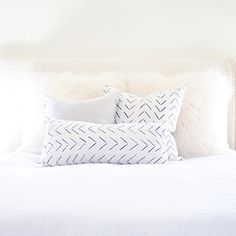 Dashed Arrow Mudcloth Pillow Cover Various by MINImalist2015 www.mini-malist.com