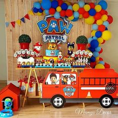 If you like PAW Patrol or the canine patrol, you're in luck today we bring you several decorating ideas for PAW Patrol's birthday or the c. Pinata Paw Patrol, Bolo Do Paw Patrol, Paw Patrol Cake, Paw Patrol Party Decorations, Birthday Party Decorations, 4th Birthday Parties, 3rd Birthday, Happy Birthday, Paw Patrol Birthday Theme