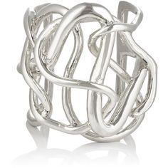 Jennifer Fisher Women's Medium Chaos Cuff (905 AUD) ❤ liked on Polyvore featuring jewelry, bracelets, silver, jennifer fisher jewelry, cuff jewelry, cuff bangle, polish jewelry and jennifer fisher