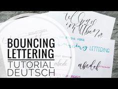 Bouncing Lettering Tutorial in Deutsch Lettering Tutorial, Instagram Accounts, Zentangle, Things That Bounce, Youtube, Deutsch, Zentangle Patterns, Zen Tangles, Zentangles