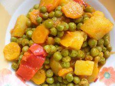 Come to cook: Αρακας στη χυτρα Vegetarian Recipes Easy, Food N, Pressure Cooker Recipes, Greek Recipes, Fruit Salad, Kai, Easy Meals, Sweets, Vegetables