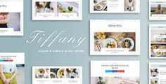 Tiffany - Clean and Simple Wordpress Blog Theme . All images are only for
