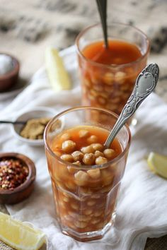 Halabessa: Egyptian-style Chickpeas in a Spicy tomato broth. A healthy & popular middle-eastern street food!