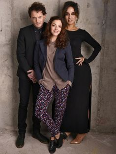"Anton Yelchin, Olivia Thirlby and Berenice Marlohe from ""5 to 7″ pose for the 2014 Tribeca Film Festival"