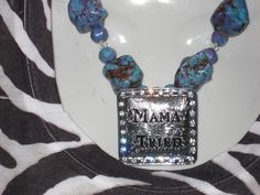 Chunky Cowgirl Necklace with Mama Tried Silver by cthorses66, $19.99