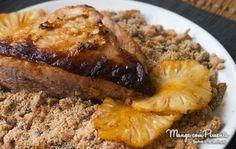 Picanha Suína ao molho de abacaxi, perfeita para o seu cardápio de Ano Novo ou Natal. Clique aqui e veja a receita no blog Manga com Pimenta.