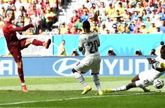 Cristiano Ronaldo knocks in the game winner against Ghana.
