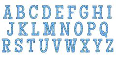 Blue polka dot alphabet | Print. Color. Fun! Free printables, coloring pages, crafts, puzzles & cards to print