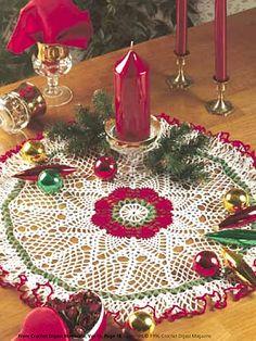 Seasonal Crochet - Winter Crochet Patterns - Christmas Pineapple Doily