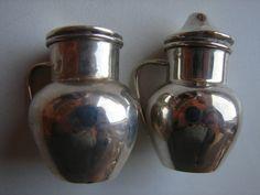 antiker Salz- und Pfefferstreuer, 925iger Silber, England