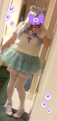 - My creepy cute magical girl coord, inspired by...