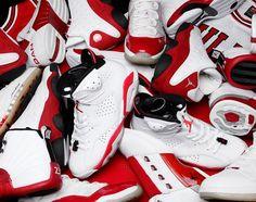 Air Jordan White/Red Showcase   KicksOnFire