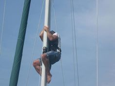 Shimmying up the mast of a sailboat in his late fifties. Now that is living Gene Smart!