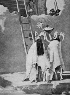 Hopi: Priests Who Impersonate Mountain Sheep in the Walpi New Fire Rite Native American Regalia, Native American Beauty, Native American Photos, Hopi Indians, Pueblo Indians, Native Indian, Native Art, Pueblo Native Americans, Indian Pictures