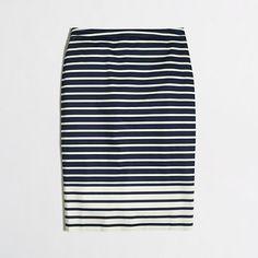 J.Crew Factory - Factory pencil skirt in colorblock stripe