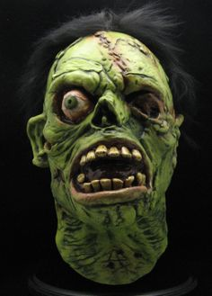 Shock Monster Theater Creature Feature Nightmare Walking Dead Halloween Mask.  Product Number JM100.  Inspired by the famous monster that came out during the height of Scary Halloween Mask collecting, Shock, sculpted by Justin Mabry is a graveyard classic that is still haunting to this day. $75.00.