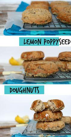 Lemon Poppyseed doughnuts that are #vegan and #glutenfree!