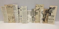 Lot 11 Vintage Model Airplane Instructions Ephemera Aurora Lindberg Pamphlets #Various