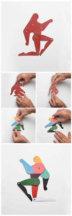 The Bodybuilder - Reversible dummy by Marc Sardà  //  #MarcSarda  // #Cool #Dummy #Papertoy #Craft #Jumping #JumpingJack #PaperDoll #Doll #Paper #Puppet #CutOut #Toys #Articulated #Jointed