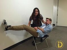 Piper Curda & Austin North: Fun Pic from Table Read |