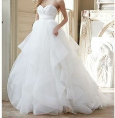 sexy hot sale white/ivory sweetheart ball gown wedding bride organza dresses