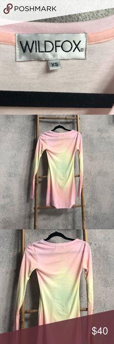 Wildfox Couture RAINBOW BRITE ARIZONA DRESS Wildfox Couture RAINBOW BRITE ARIZONA DRESS. Tie dye 62% Polyester, 33% Rayon, 6% Spandex Model Wildfox Dresses