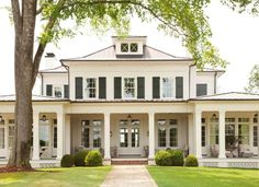 Bet it is hot on the back porch today! pastproject tennessee greathouse classicarchitecture porch… is part of Dream house exterior - Traditional Home Exteriors, Colonial House Exteriors, Dream House Exterior, Traditional House, Colonial Exterior, Modern Colonial, Traditional Home Plans, Colonial House Plans, Exterior Homes
