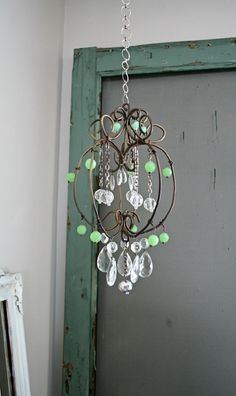 DIY vintage chandelier