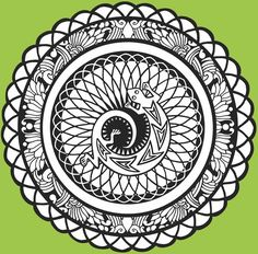 Mandalas GemGlow Stained Glass Coloring Book Dover Publications