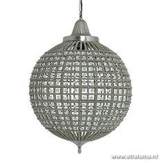 Romantische hanglamp Cheyenne kristal