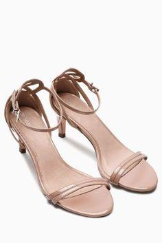 435bf8815f15 Buy Nude Kitten Heel Sandals from the Next UK online shop