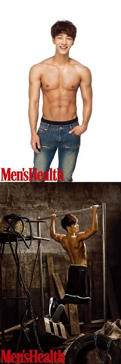 B2ST's Kikwang bared his abs for the cover of the March issue of 'Men's Health'. Kikwang and hi
