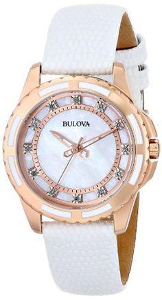 Reloj Bulova Automático de acero inoxidable con acentos de diamante 98P119    Antes: $897,000.00, HOY: $381,000.00