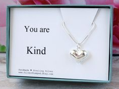 You are Kind  Thank you gift for her Sterling by SilverStamped