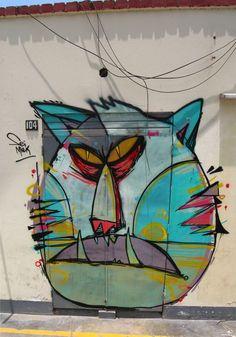 cat graffiti by Seimiek