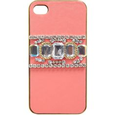 Miss Selfridge Coral I Phone 4 Cover ($9) ❤ liked on Polyvore featuring accessories, tech accessories, phone cases, phones, cases, assorted and miss selfridge