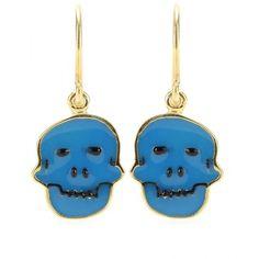 House of Waris Skull Drop Earrings ($212) ❤ liked on Polyvore